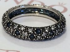 Authentic Pandora Cosmic Stars Blue CZ Ring 190915 Size 60 AS NEW
