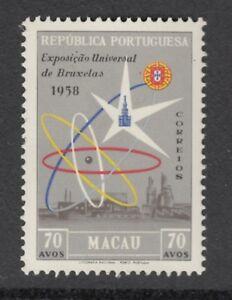 MACAU  1958  Brussels International Exhibition.  MNH