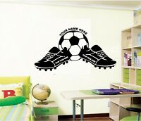 personalized boots and ball wall sticker football, footballer,soccer your name