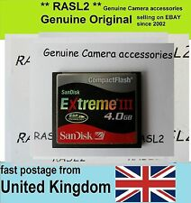 Original SanDisk Extreme III 4 GB Compact Flash Card CF card  4GB CF memory card