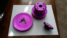 Mazda RX7 13B  Billet oil cap, power steering pulley, water pump pulley