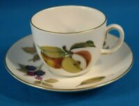 Royal Worcester Evesham Coffee Cup w/ Saucer England