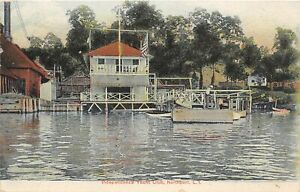 H54/ Northport New York Postcard c1910 Independence Yacht Club 93