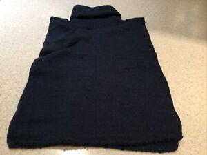 Vintage Navy Detachable Fake Collar Turtleneck Mock Half Neck Dickey Sweater