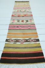 "Kitchen Rug, Turkish Milas Kilim Runner, Carpet Runner Hallway Aisle Rug 20""x83"""