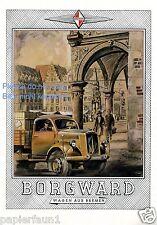 Borgward Bremen XL Reklame von 1943 !!! Werbung ad LKW Roland Marktplatz Rathaus