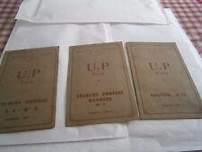 Lot de 3 dépliants échantillon de velours  tissus jutes UP Paris Filatures