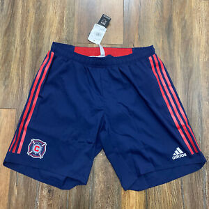 Adidas Authentic Chicago Fire FC Player Issued Shorts Soccer MLS DS8896