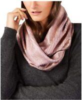 INC International Concepts liquid shine metallic loop women's scarf BLUSH PINK