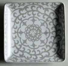 """NEW 222 Fifth Casbah Silver Set of 4 Salad or Dessert Plates NEW 6.5""""x6.5"""""""