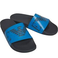 Emporio Armani Mens Monogram Slides with contoured footbed for comfort
