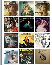 LYNSEY DE PAUL ALBUM COVERS SET OF 12 FLEXIBLE THIN  FRIDGE MAGNETS RIP NEW GIFT