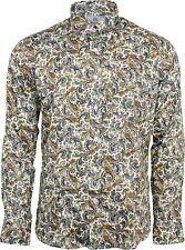 Camicie casual e maglie da uomo multicolore aderente con colletto