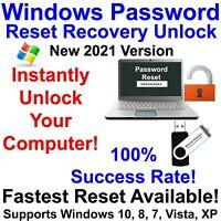 Windows Password Recovery Reset Unlock for Windows 10, 8.1, 8, 7, Vista, XP USB