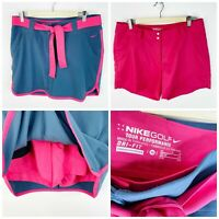 Nike Golf Womens Size 10 Convert Skirt Skort Shorts Gray Pink Dri Fit 3-in-1