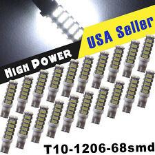 20X White T10/194 68SMD RV Camper Trailer Backup Reverse LED Light Bulb