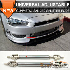 Gunmetal Sanded Front Bumper Splitter Rod Support Stabalizer Length 5.5-8 Inch