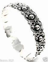 TAXCO MEXICAN STERLING 925 SILVER DECO BEADED BEAD SCROLL BANGLE BRACELET MEXICO