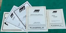 Rare Lot Of 5 MFJ Enterprises Owner's Manuals 1284 2400 BPS Jump Fast Start