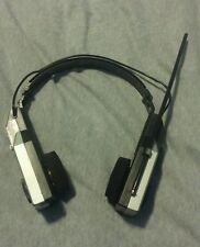 *working Vtg Ultronic Folding Am/Fm Radio Stereo Receiver Headphones Rare black