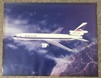 Delta Airlines DC-10 Airliner Poster. Ship # 601 from 1973. 19 3/4 x 15 5/8.