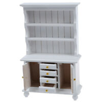 1/12 Dollhouse Miniature Furniture Multifunction Wood Cabinet Bookcase SZHKDT