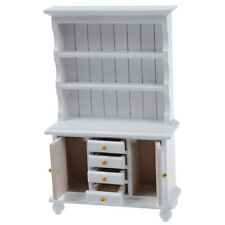 1/12 Dollhouse Miniature Furniture Multifunction Wood Cabinet Bookcase SZHKDT