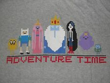 Grey Men's Extra Large XL 8 Bit Adventure Time Graphic T Shirt