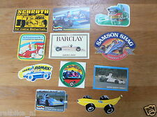 STICKER,DECALS SET 1 FORMULE ONE, F1 RACE LOT OF ABOUT 11 STICKERS SEE PICTURES