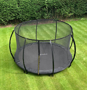 BLACK 10FT in ground trampoline by Active-fun now with added safety net