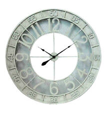 XLarge Shabby White French Provincial Paris Antiquite Large Numerals Wall Clock