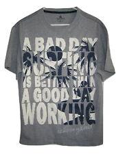 New listing DISNEY BAD DAY SURFING BETTER THAN WORKING Gray T Shirt Mens M Medium