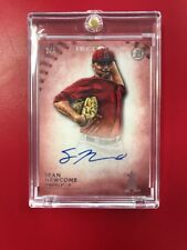 2015 Bowman Inception Baseball SEAN NEWCOMB Prospect Autograph Red #'d 2/5