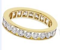 2.00ct F VS1 Brilliant Cut Diamond Full Eternity / Wedding Ring 18ct Yellow Gold