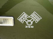1968 Oldsmobile Cutlass RAM ROD 350 Fender Decals Pair of 2 NEW GM OLDS CHEVY V8