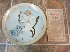 The Seamstress Little Ladies Plate Collection, Hamilton Collector Plate C of A