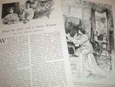 Article Round the Clock with a Society Woman by Lady Violet Greville 1903