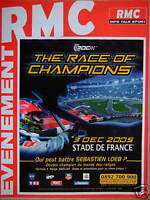 PUBLICITÉ 2005 RMC RADIO MONTE CARLO INFO SPORT ÉVENEMENT THE RACE OF CHAMPIONS