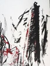 """JOAN MITCHELL 'Arbres (Trees)', 1991 SIGNED Lithograph Print, 30"""" x 22"""", ed. 125"""