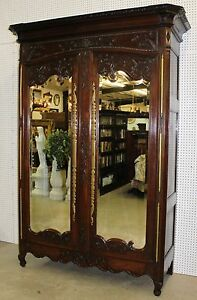 Fantastic Antique Country French Carved Normandy Armoire Wardrobe Circa 1780