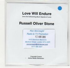 (FC755) Russel Oliver Stone, Love Will Endure - 2013 DJ CD