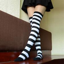 60a7d53da93 Striped Printed Girls Ladies Long Cotton Stockings Women Thigh-High Knee  Socks