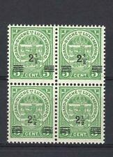 Luxembourg 1918 Sc# 112 Coat of arms block 4 MNH