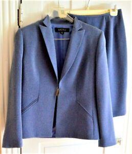 KASPER Two Piece Blue Suit Skirt 8P