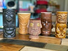 5 Pieces of Vintage Tiki Mugs: Orchids of Hawaii, Westwood, DAGA, OMC etc!