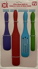 Kalorik Mad Hungry 4-Piece Silicone Spurtle Set As Seen On TV NWT NEW
