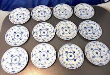 Royal Copenhagen Blue Fluted Half Lace 12 pcs. Bread Plates - 1102615 - NEW -