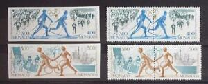 MONACO 1991 OLYMPICS XF RARE ImPerf+Perf Cpl. MNH** Sets, Sport Stamps