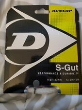 Dunlop S-Gut 16g / 1.32mm Synthetic Gut Tennis String Set In White