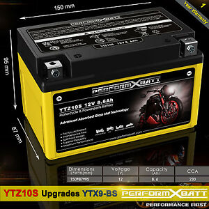 AGM Battery Honda CB500 F CB500X CBF500 CBR500F CBR500R NX500 YTZ10S > YTX9-BS